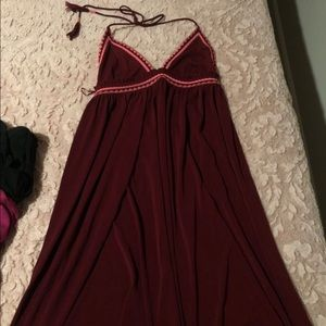 Long backless burgundy dress $20 OBO